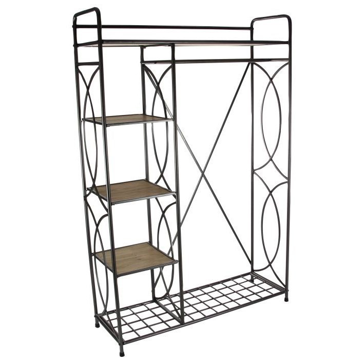 Metal/Wood Clothes Rack
