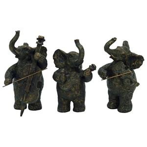 UMA Enterprises, Inc. Accessories Elephant Musicians, Set of 3