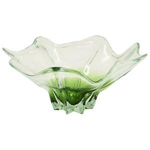 UMA Enterprises, Inc. Accessories Glass Clear Green Flute Bowl