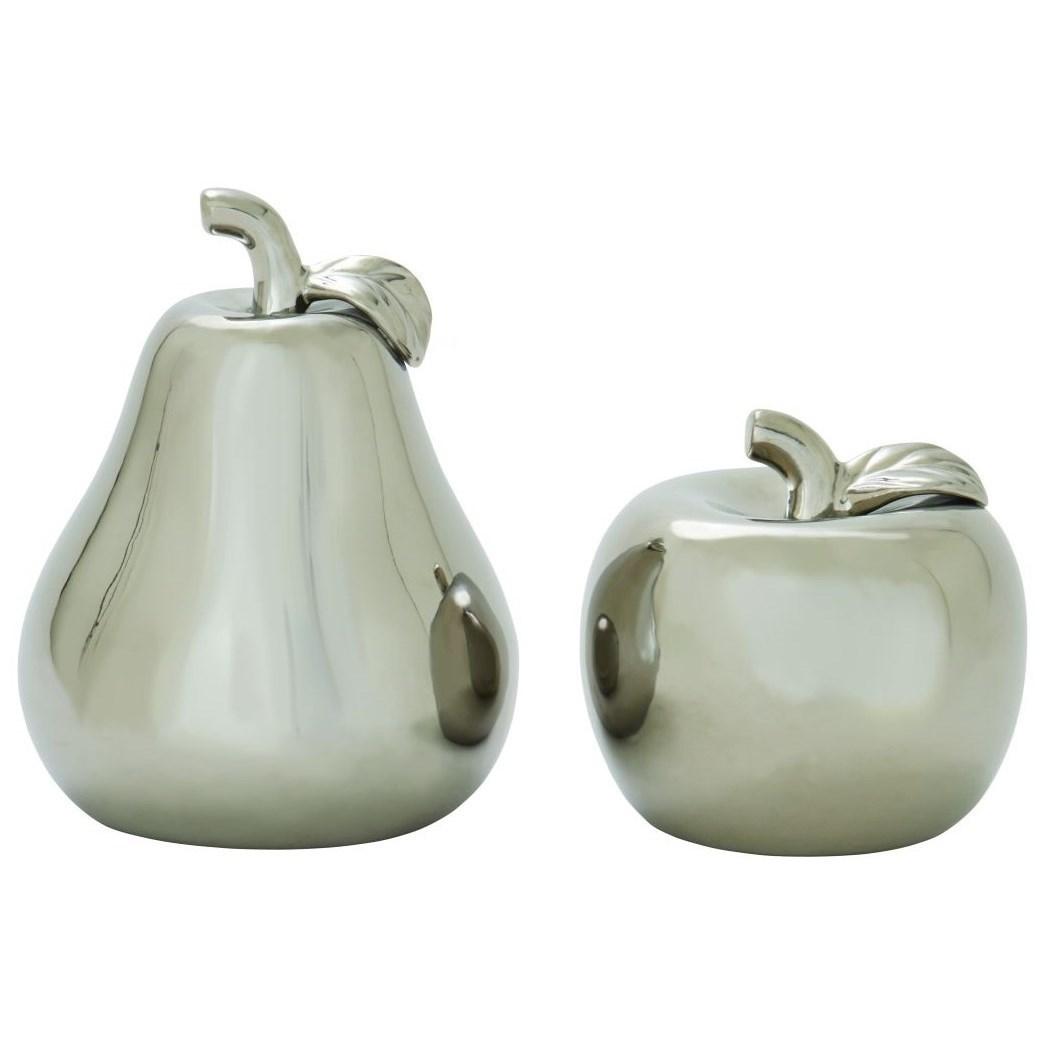 Ceramic Silver Pear & Apple