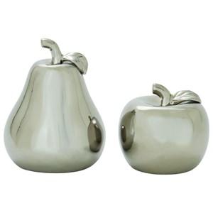 UMA Enterprises, Inc. Accessories Ceramic Silver Pear & Apple