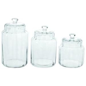 UMA Enterprises, Inc. Accessories Glass Jars, Set of 3