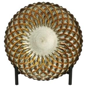 UMA Enterprises, Inc. Accessories Glass Bowl w/ Metal Easel