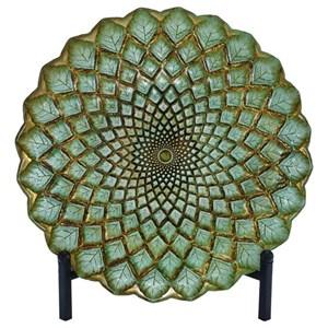 UMA Enterprises, Inc. Accessories Glass Bowl w/ Metal Stand