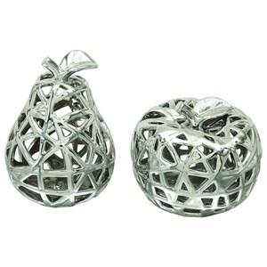 UMA Enterprises, Inc. Accessories Ceramic Apple & Pear, Set of 2