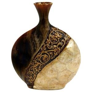 UMA Enterprises, Inc. Accessories Ceramic Capiz Shell Vase