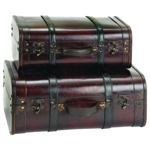 UMA Enterprises, Inc. Accessories Suitcase Shape Boxes, Set of 2