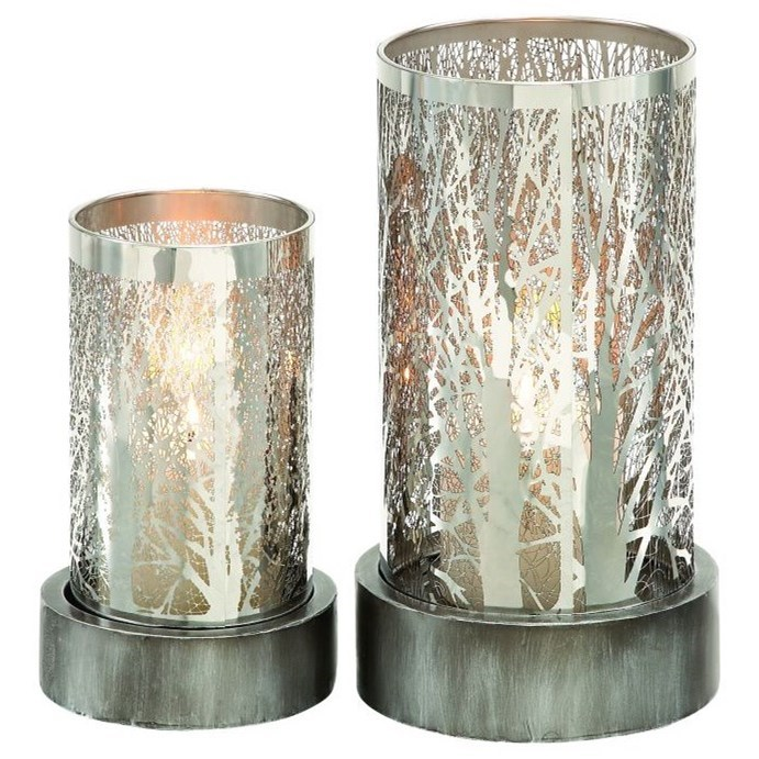 Metal Candle Holders, Set of 2
