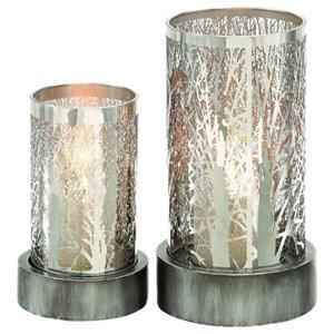 UMA Enterprises, Inc. Accessories Metal Candle Holders, Set of 2