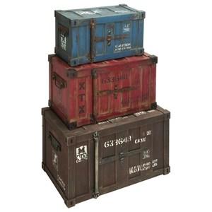 UMA Enterprises, Inc. Accessories Wood Trunk, Set of 3