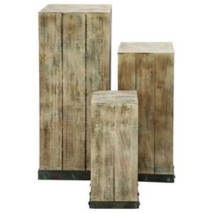 UMA Enterprises, Inc. Accessories Wood Pedestals, Set of 3