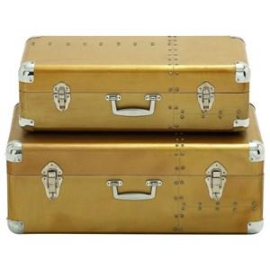 UMA Enterprises, Inc. Accessories Wood/Aluminum Cases, Set of 2