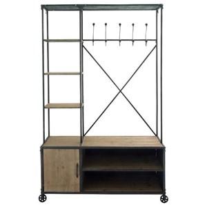UMA Enterprises, Inc. Accessories Metal/Wood Clothes Rack
