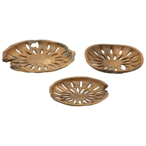 UMA Enterprises, Inc. Accessories Teak Decor Bowls, Set of 3