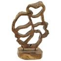 UMA Enterprises, Inc. Accessories Teak Sculpture - Item Number: 75559