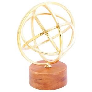 UMA Enterprises, Inc. Accessories Metal/Wood Gold Sculpture