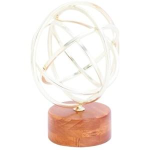 UMA Enterprises, Inc. Accessories Metal/Wood Silver Sculpture