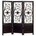 UMA Enterprises, Inc. Accessories Wood/Metal 3 Panel Screen - Item Number: 86285