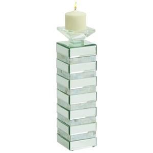UMA Enterprises, Inc. Accessories Glass/Wood Candle Holder