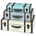 UMA Enterprises, Inc. Accessories Wood Trunks, Set of 3 - Item Number: 93776