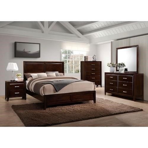 Simmons Upholstery 1006 Agathis Queen 5 Piece Bedroom Group - Item Number: 1006 Q Bedroom Group 4