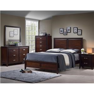 Simmons Upholstery 1006 Agathis Queen 5 Piece Bedroom Group - 1006 Q Bedroom Group 4