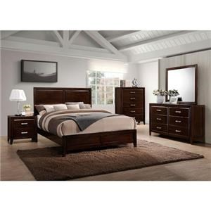 Simmons Upholstery 1006 Agathis 4-Piece Queen Bedroom Group