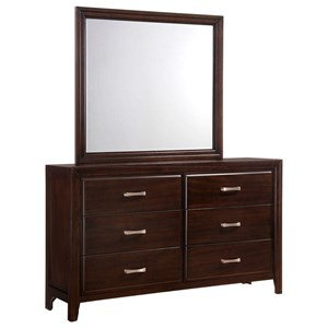 Simmons Upholstery 1006 Agathis Dresser and Mirror