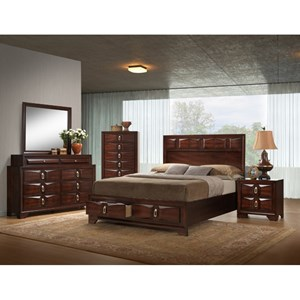 United Furniture Industries 1012 Roswell Queen Bedroom Group