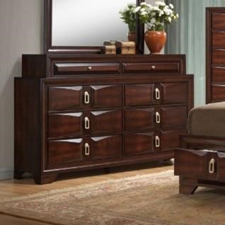 United Furniture Industries 1012 Roswell 8 Drawer Dresser - Item Number: 1012-10