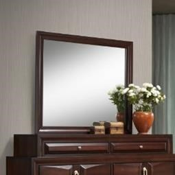 1012 Roswell Mirror with Wood Frame by United Furniture Industries at Dream Home Interiors