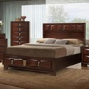 United Furniture Industries 1012 Roswell Queen Storage Bed - Item Number: 1012-51+52+53