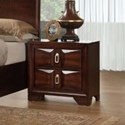 Simmons Upholstery 1012 Roswell 2 Drawer Nightstand - Item Number: 1012-80