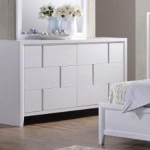 United Furniture Industries 1011 6 Drawer Dresser