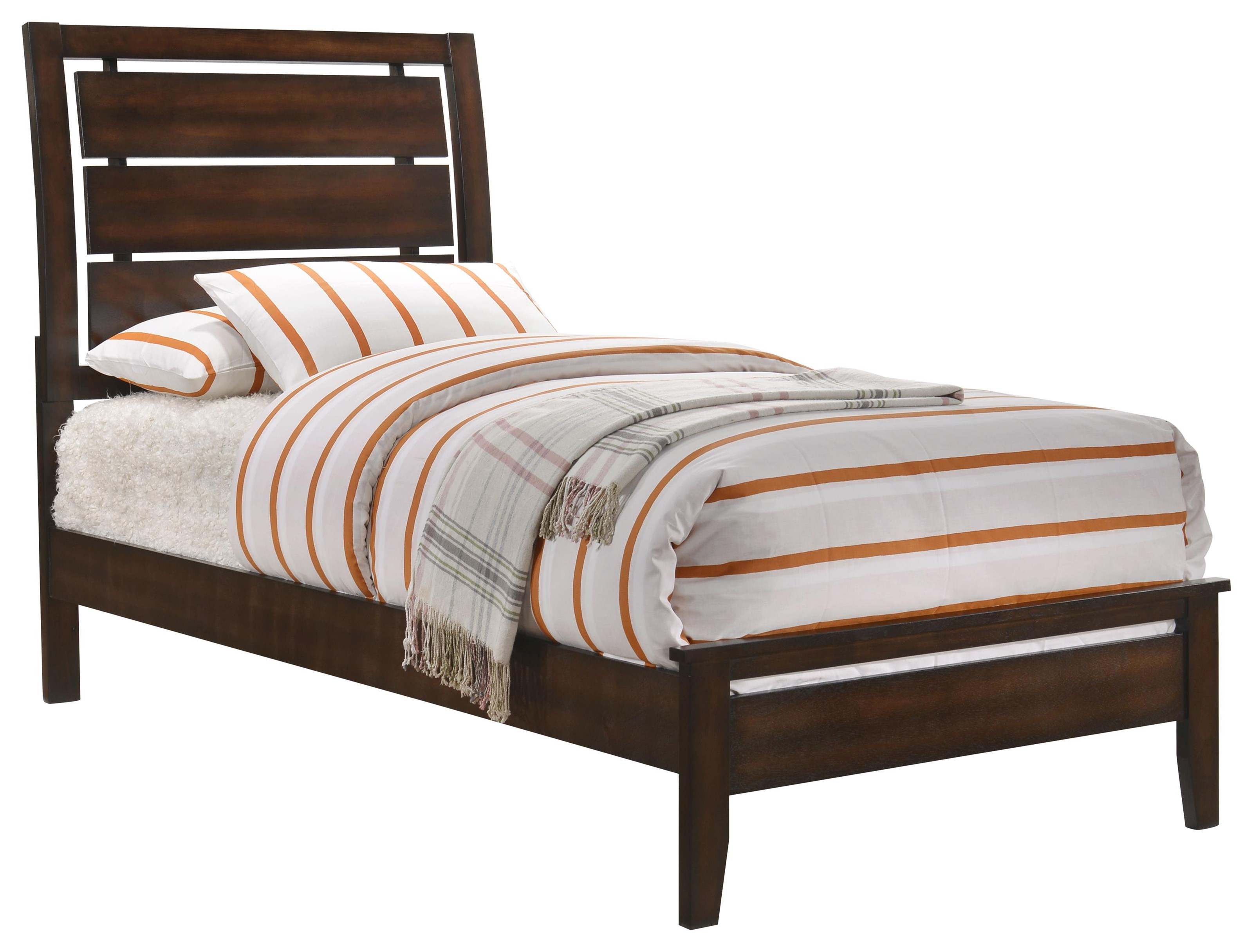 Simmons Upholstery Jackson Twin Bed - Item Number: 1017-34+35