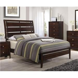 Simmons Upholstery Jackson Full Panel Bed