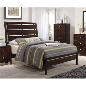 Simmons Upholstery Jackson Queen Panel Bed