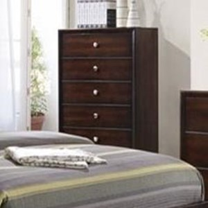 Simmons Upholstery Jackson 5 Drawer Chest