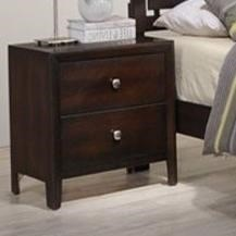 Simmons Upholstery Jackson 2 Drawer Night Stand - Item Number: 1017-80