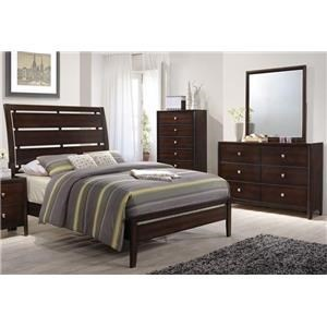 Simmons Upholstery Jackson Queen 3-Piece Bedroom Group - 1017-HSFL