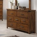 United Furniture Industries 1022 Logan 7 Drawer Dresser - Item Number: 1022-10