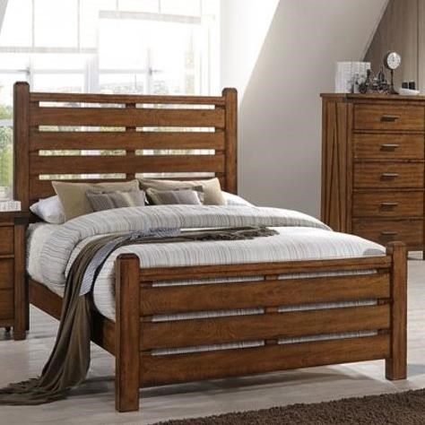 United Furniture Industries 1022 Logan King Bed - Item Number: 1022-66+68