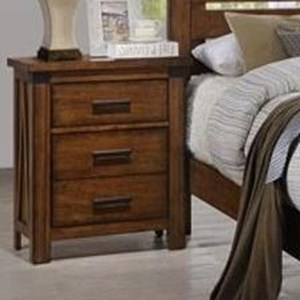 United Furniture Industries 1022 Logan 3 Drawer Nightstand