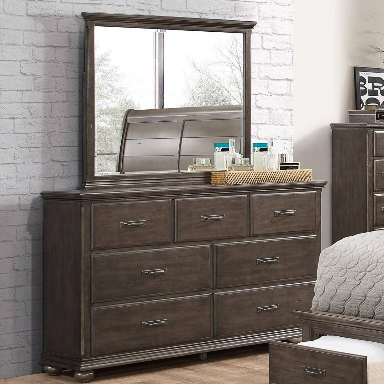 United Furniture Industries 1026 Dresser with Mirror - Item Number: 1026-10+20