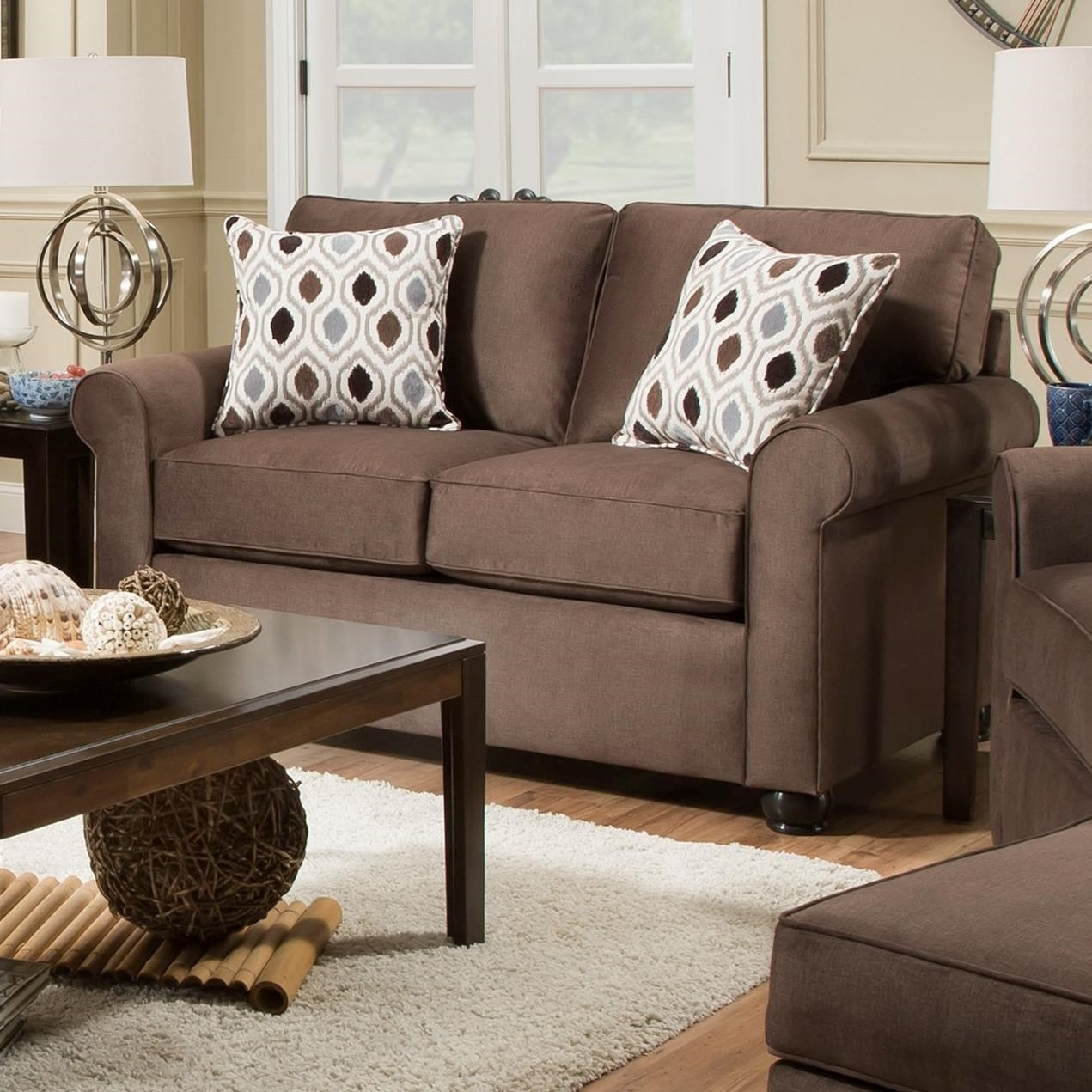 1530 Loveseat by United Furniture Industries at Dream Home Interiors