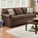 "Simmons Upholstery 1530 84"" Sofa - Item Number: 1530-03-Jojo Chocolate"