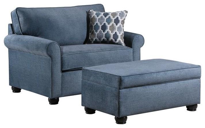 United Furniture Industries 1530 Storage Ottoman - Item Number: 1530OOcean