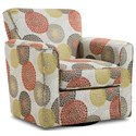 Simmons Upholstery 160 Casual Swivel Glider Chair - Item Number: 160Swivelchair-CrysanthemumPersimmo