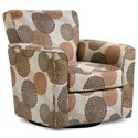 Simmons Upholstery 160 Casual Swivel Glider Chair - Item Number: 160SwivelchairCrysanthemumUmber