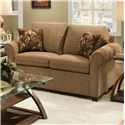 Simmons Upholstery 1630 Transitional Loveseat - Item Number: 1630Loveseat-Acorn